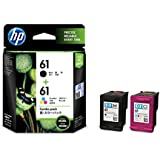 HP 61 Ink Cartridges, Black / Tri-color, 2-Pack (CR311) Retail Packing