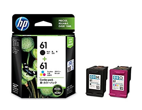 HP 61 Ink Cartridges, Black / Tri-color, 2-Pack (CR311) Retail Packing (Hp Ink 61 Color And Black)