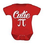 Cutie Pi Symbol Infant One - Piece Pi day Funny Baby Bodysuit Newborn Red