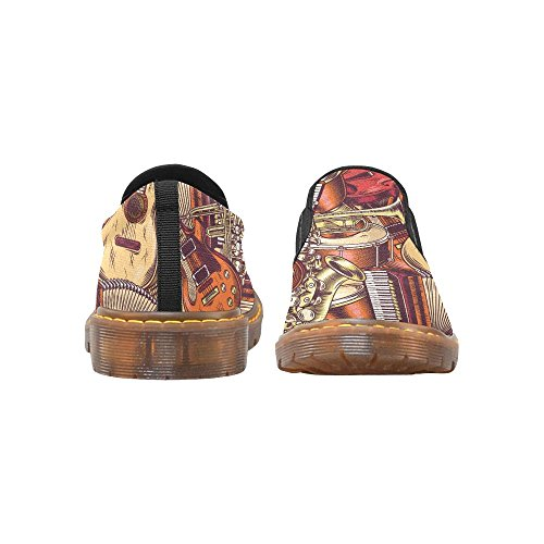 D-story Fahion Schoenen Franse Bulldog Aquarel Puppy Dames Instappers Loafer Casual Enkellaars Multi4