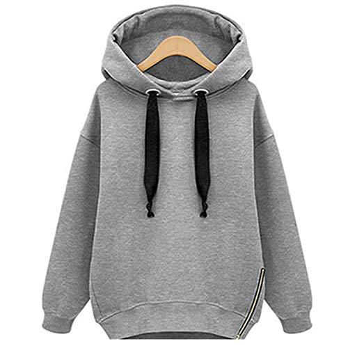 [해외]Thenxin Women Fashion Hoodies Thicken Pullover Blouses Warm Double Loose Drawstring Sweatshirt / Thenxin Women Fashion Hoodies Thicken Pullover Blouses Warm Double Loose Drawstring Sweatshirt(Gray,M)