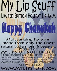 Holiday Cheesecake - My Lip Stuff-HAPPY CHANUKAH (Cheesecake Flavor) LIMITED EDITION HOLIDAY LIP BALM