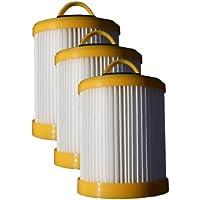 (3) Eureka Series 5700 5800 Pleated Dust Cup Lite Speed Type DCF 3 Hepa Bagless Upright Vacuum, Litespeed Whirlwind, Sanitaire, 922 62136, 61830A, 61825