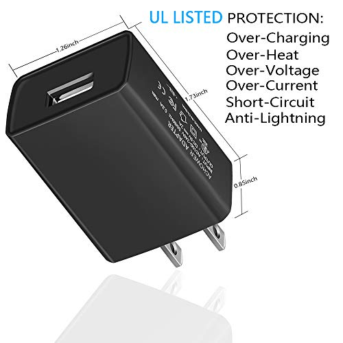 ACHOWER Kids Kindle Fire Tablet Charger - [UL Listed] Compatible with Fire 7 HD 8 Fire HD 10 Kids Edition, Fire 7 HD 8 HD10 Tablet Rapid USB Wall Charger with 5FT Charging Data Sync Cable Cord