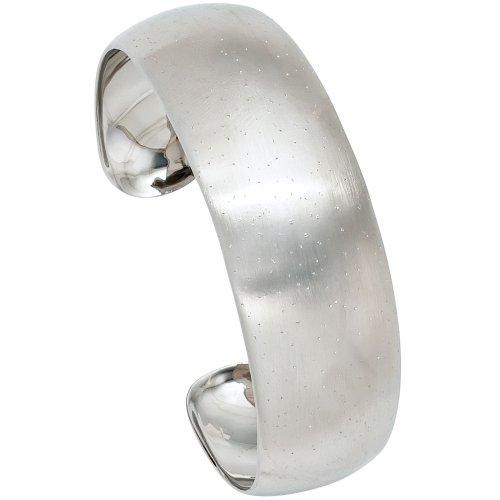 JOBO bracelet en argent sterling 925 rhodié/dépoli avec effet brillant