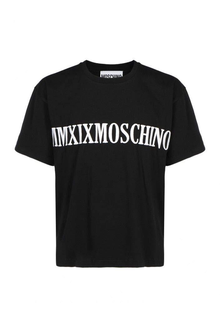 MOSCHINO Luxury Fashion Mens J070452401555 Black T-Shirt | Fall Winter 19