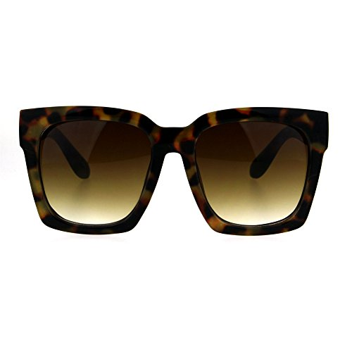 SUPER Oversized Square Sunglasses Womens Modern Hipster Fashion - Sunglasses Orange Juicy