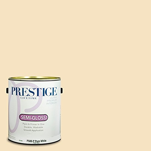 Prestige Paints Interior Paint and Primer In One, 1-Gallon, Semi-Gloss, Comparable Match of Benjamin Moore Montgomery White