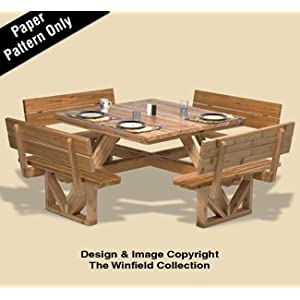 Square Picnic Table Woodworking Pattern