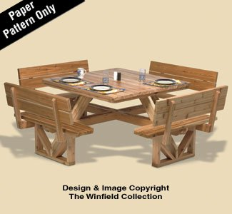 Winfield Collection Woodworking Plan for a Square Picnic Table
