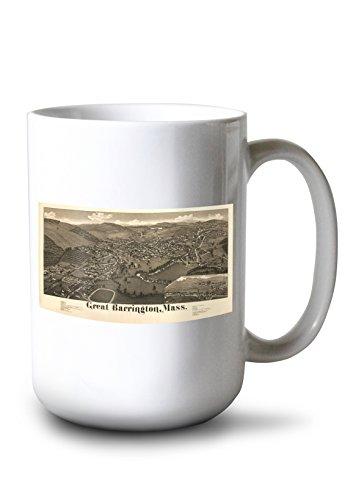 Lantern Press Great Barrington, Massachusetts - Panoramic Map (15oz White Ceramic Mug)