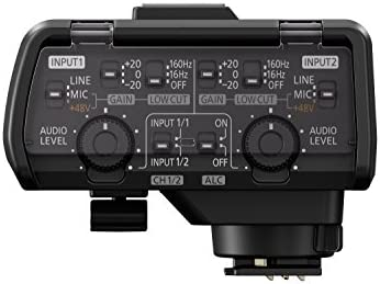 Panasonic Professional XLR Audio Video Microphone Adaptor with 2 XLR Terminals – Accessory Compatible with LUMIX GH5, GH5S, S1 and S1R Mirrorless Digital Cameras – DMW-XLR1