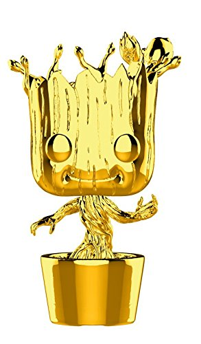 Funko Pop Marvel: Marvel Studios 10 - Groot (Gold Chrome) Collectible Figure, Multicolor
