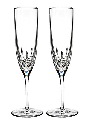 Waterford Lismore Encore Champagne Flute, Pair by Waterford