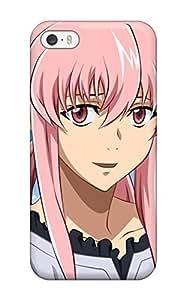 Flexible Tpu Back Case Cover For Iphone 5/5s - Pinkanime Pink Mirai Nikki Gasai Yuno