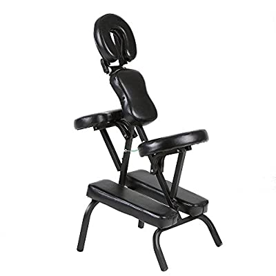 Anself Portable Folding Tattooing Chair Massage Salon Spa Chair Black