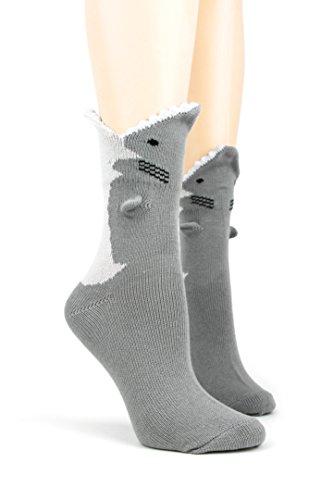 Foot Traffic - 3D Socks (Great White Shark) ()