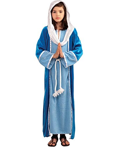 [Girls Deluxe Mary Costume M] (Girls Virgin Mary Costume)