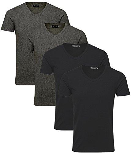V 12059219 Mix JackJones homme 3 pièces coupe Tee T shirt shirt 4 basique Neck 2IEDH9