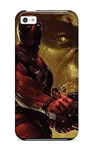 New Style New Premium Flip Case Cover Deadpool Skin Case For Iphone 5c 8791185K86479350