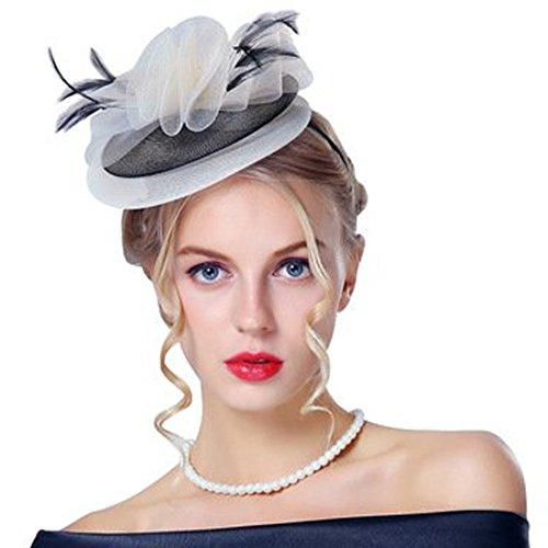 JoyVany Women s Birdcage Veil Hat Wedding Hats And Fascinators White - Buy  Online in UAE.  4db8020757e