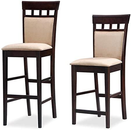 Coaster Home Furnishings Casual Barstool in Cappuccino Finish – Set of 2