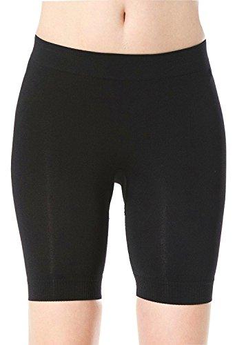 HOLYSNOW Junior Hi-Waist Trainer Buttocks Push Up Enhancer Body Shaper Black (Just Enough Hi Waist Brief)