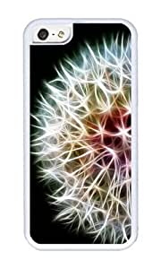 Apple Iphone 5C Case,WENJORS Personalized Fractal dandelion Soft Case Protective Shell Cell Phone Cover For Apple Iphone 5C - TPU White
