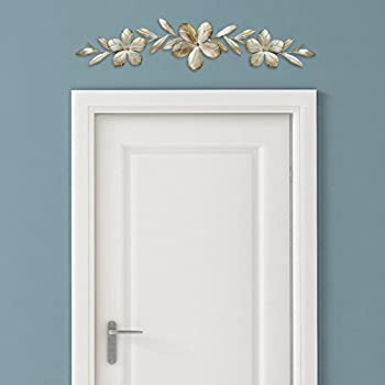 Amazon Com Stratton Home Decor S07705 Flower Over The Door Wall 38 00 W X 0 75 D 8 H Champagne Kitchen