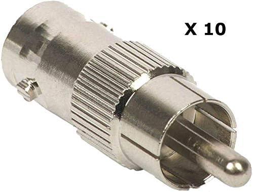10×RCAフォノオスプラグアダプターへのBNCメス - コンポジットビデオのCCTV lsmaa