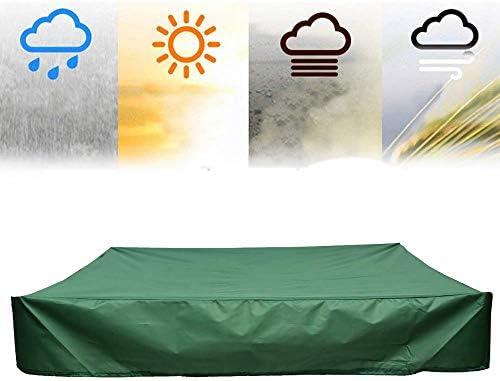 SUNDUXY Funda para Sandbox/Arenero, Funda Protectora para Muebles de jardín, Impermeable Anti-Viento/Lluvia/UV/Polvo Cubierta Protectora Arenero,Verde,120X120cm: Amazon.es: Hogar