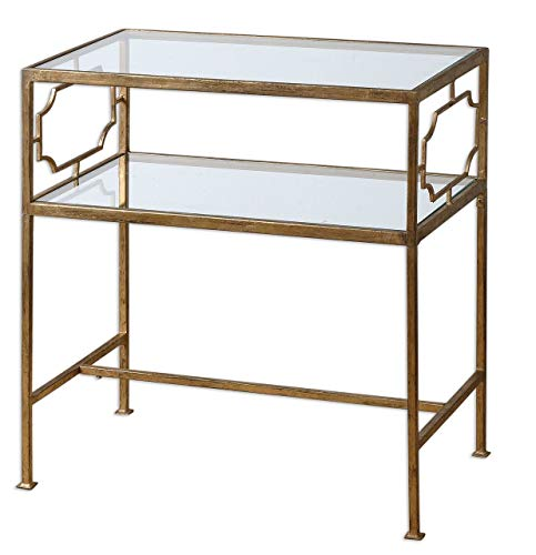 Uttermost 24335 Genell Side Table, Gold from Uttermost