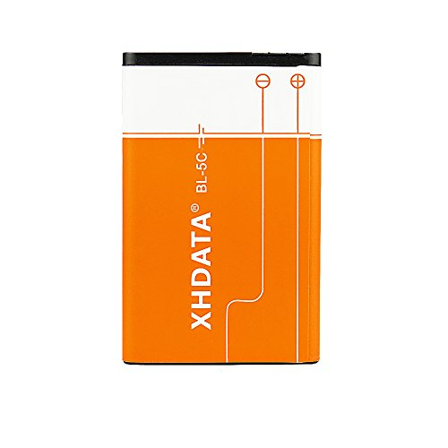 XHDATA BL-5C Battery 3.7V 1500mAh Rechargeable Battery Large Capacity for Radio for Home with Current Protection (2 Pieces)
