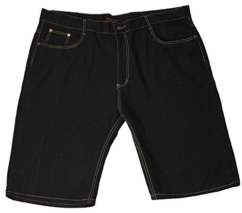 Jean Station Big Men's Denim 5-Pocket Fashion Shorts, Blue Black, Size - Embroidered And Shorts Big Tall