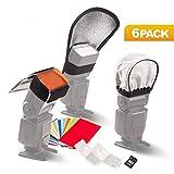 Flash Accessories Set Diffuser Softbox Reflector 12pc Strobist Flash Color Card for Speedlight Kit Gels Universal Lighting Filter Kit