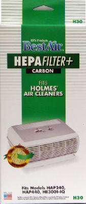 RPS Products H30 HEPA Air Filter & Carbon Pre-Filter - Qu...