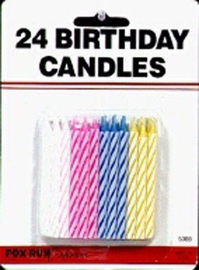 Amazon Fox Run Birthday Candles 24 Assorted Colors