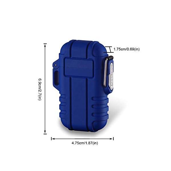 Mechero de Plasma, Teepao Dual Arc Mechero USB recargable sin llama a prueba de viento encendedor de cigarrillos… 1