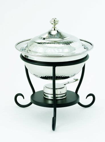 Chrome Round Chafer - Old Dutch 12 Inch x 15 Inch Round Stainless Steel Chafing Dish