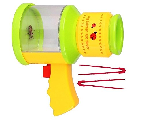 Childrens Bug Catcher and Viewer - Insect Magnifier, Catcher + 2 Bug Tweezers - Nature Exploration Microscope For Kids - By OLIVIA & AIDEN