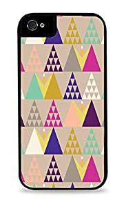 Colorful Christmas Tree Design Black 2-in-1 Protective Case with Silicone Insert for Apple iPhone 5 / 5S
