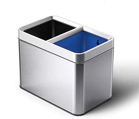 キッチンゴミ箱 四角形、ステンレスステップゴミ箱ゴミ箱コンテナビンのバスルーム、パウダールーム、キッチン、ホームオフィス、キッズルームには、 ごみ収集