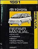1991 Toyota Previa Van Repair Shop Manual Original
