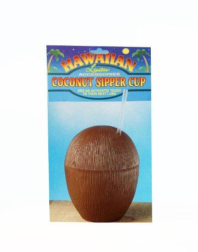 [Forum Novelties Hawaiian Luau Party Tiki Bar Coconut Cup] (Hawiian Costumes)