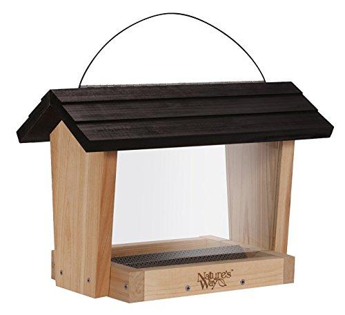 Nature's Way Bird Products CWF18 Cedar Hopper Bird Feeder, 6-Quart