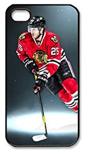 LZHCASE Personalized Protective Case for iphone 4 - NHL Chicago Blackhawks #25 Viktor Stalberg
