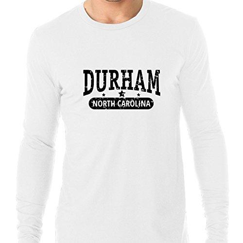 Trendy Durham, North Carolina With Stars Men's Long Sleeve T-Shirt -