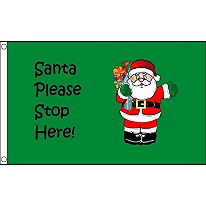 santa stop here flag 3 x 5 merry christmas flags 90 x 150