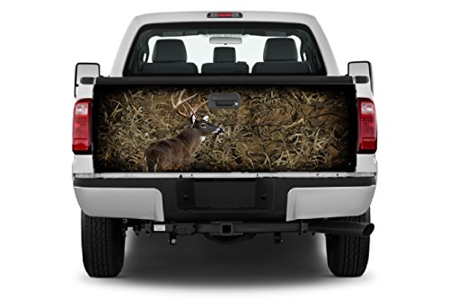 Camo- Grassland-Buck 1 Tailgate Wrap Vinyl Graphic Decal Sticker Wrap