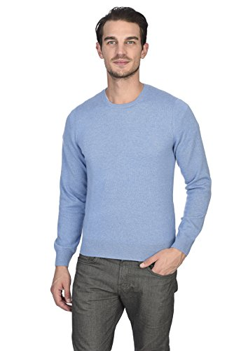(State Cashmere Men's 100% Pure Cashmere Long Sleeve Pullover Crew Neck Sweater)